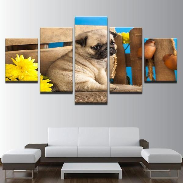 Dog Canvas Wall Art Prints