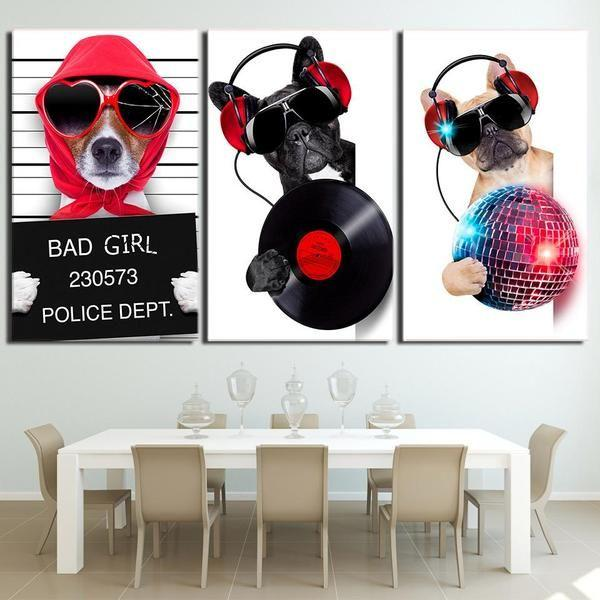 Dogs In Cars Wall Art Decor