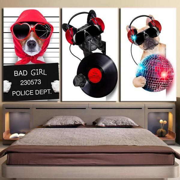 Dogs In Cars Wall Art Decors