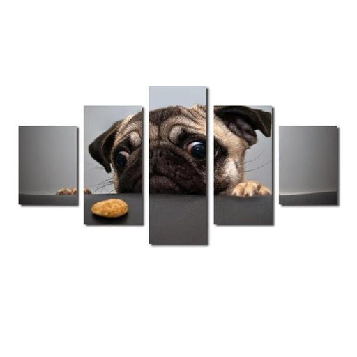 Dogs Peeing On Wall Art Canvases