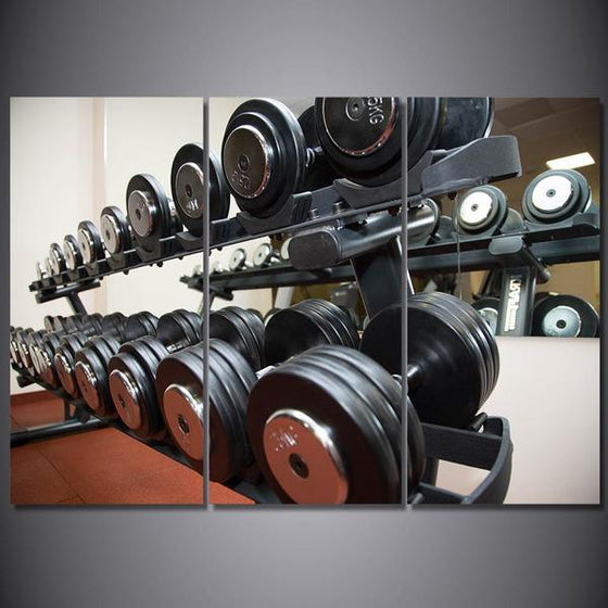 Dumbbell Set Wall Art Canvas