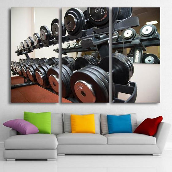 Dumbbell Set Wall Art