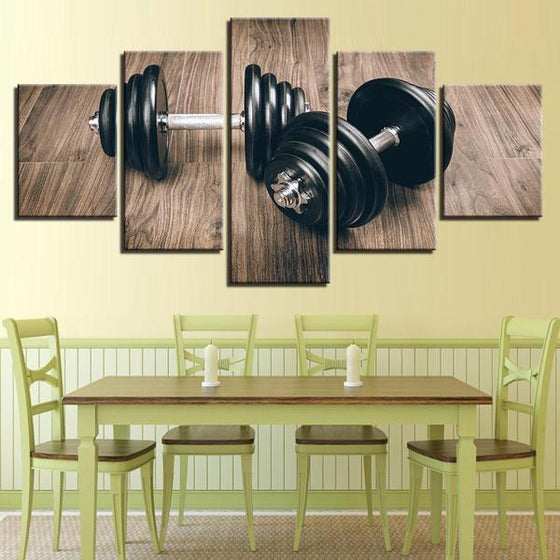 Dumbbells Gym Equipment Wall Art Dining Room