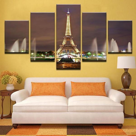 Eiffel Tower Architecture Wall Art Canvas