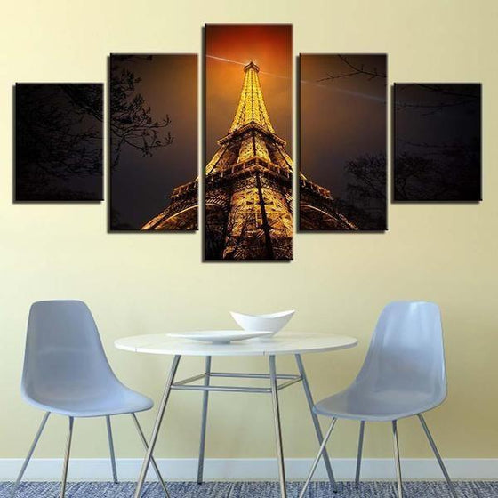 Eiffel Tower Architecture Wall Art Idea