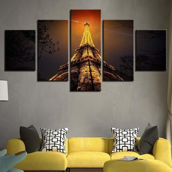 Eiffel Tower Architecture Wall Art Ideas