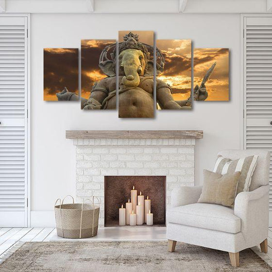 Elephant God Ganesha Canvas Wall Art Decor