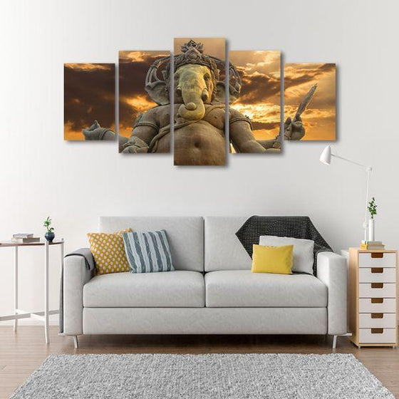 Elephant God Ganesha Canvas Wall Art Living Room
