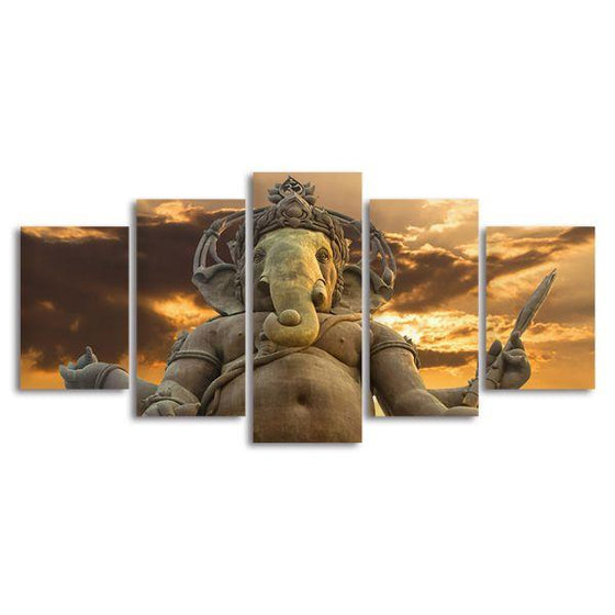 Elephant God Ganesha Canvas Wall Art