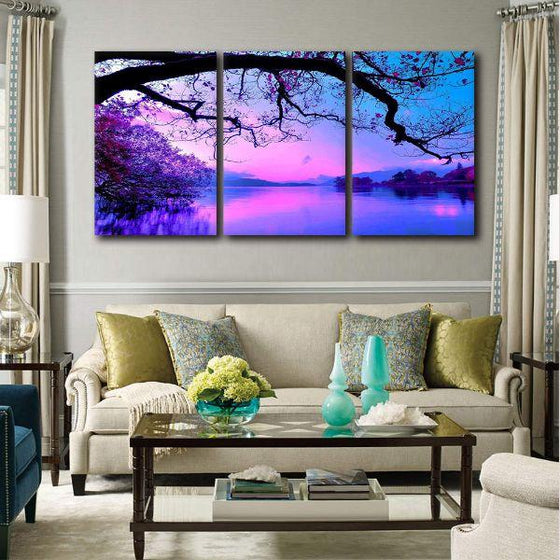 Enchanted Forest Lake View Canvas Art