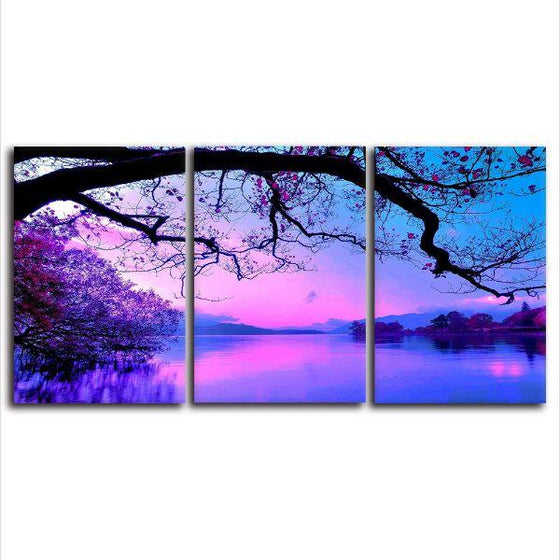 Enchanted Forest Lake Canvas Wall Art