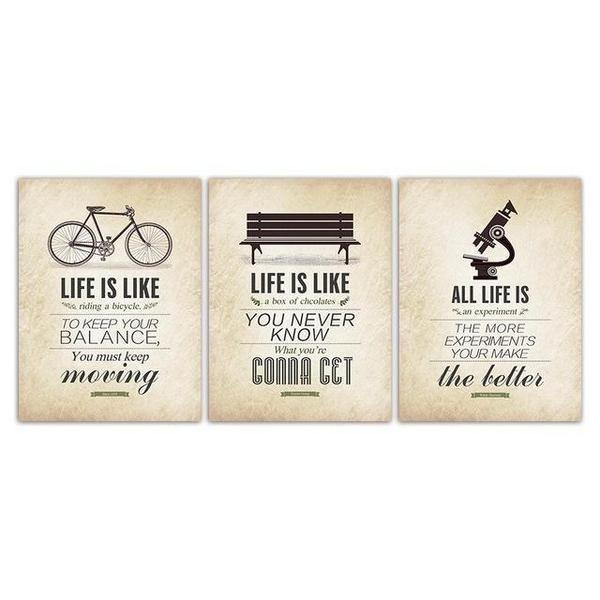 Keep Moving Forward Quote | Retro Keep Moving Forward Quote Canvas Wall Art