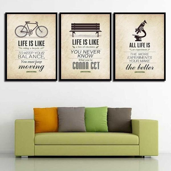 Retro Keep Moving Forward Quote Canvas Wall Art