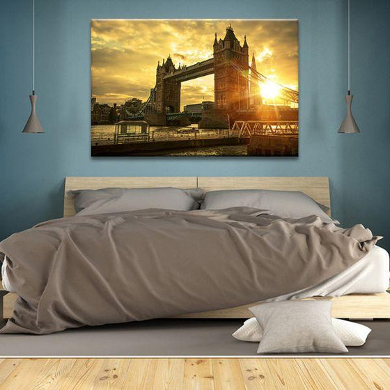 Famous London Tower Bridge Canvas Wall Art Bedroom