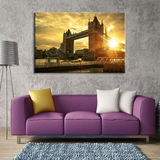 Famous London Tower Bridge Canvas Wall Art Living Room