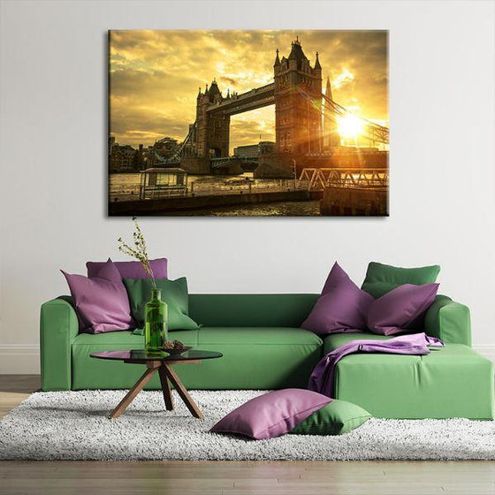 Famous London Tower Bridge Canvas Wall Art Office