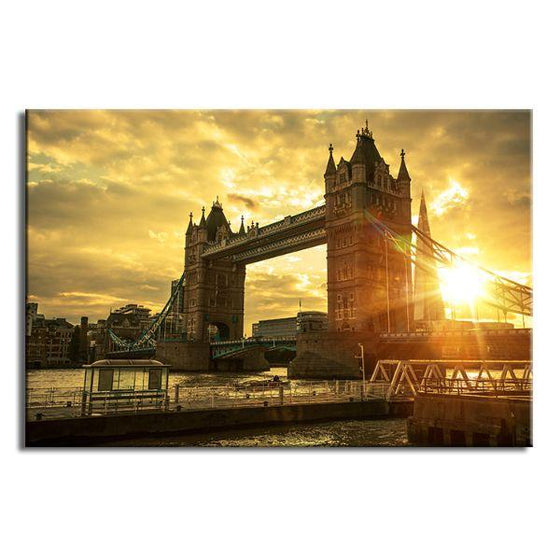 Famous London Tower Bridge Canvas Wall Art