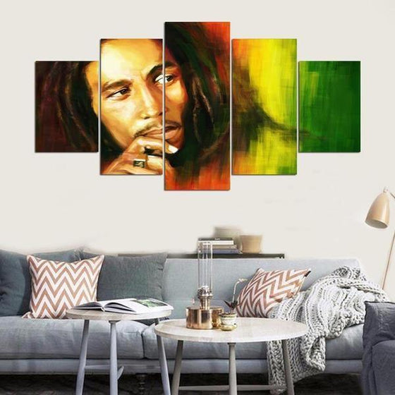 Bob Marley Canvas Wall Art Living Room