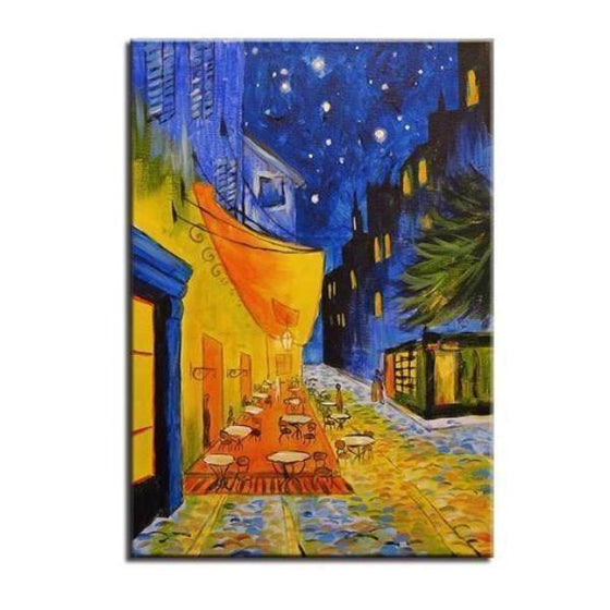 Cafe Terrace 1888 at Night by Vincent van Gogh Canvas Print Wall Art Decor