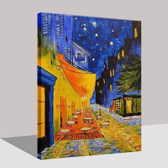 Cafe Terrace 1888 at Night by Vincent van Gogh Canvas Print Wall Art Prints