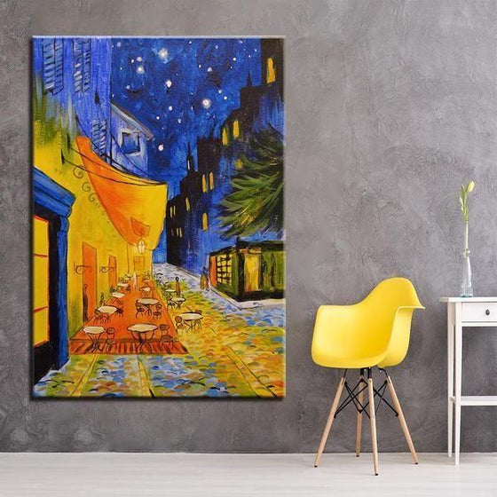 Cafe Terrace 1888 at Night by Vincent van Gogh Canvas Print Wall Art Home Decor