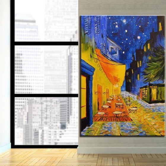 Cafe Terrace 1888 at Night by Vincent van Gogh Canvas Print Wall Art Ideas