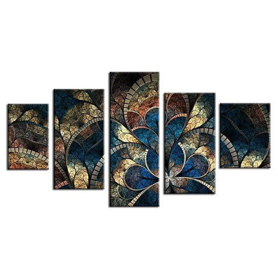 Fantasy Flowers Abstract Canvas Wall Art