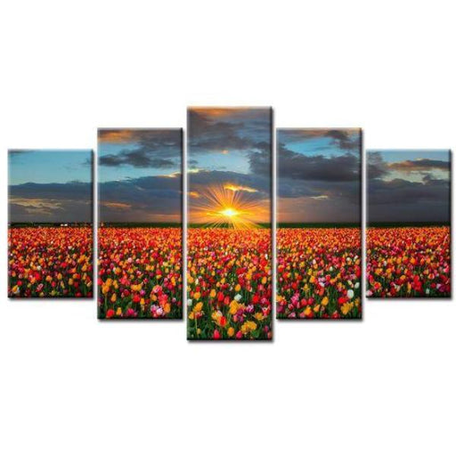 Field Of Tulips Wall Art