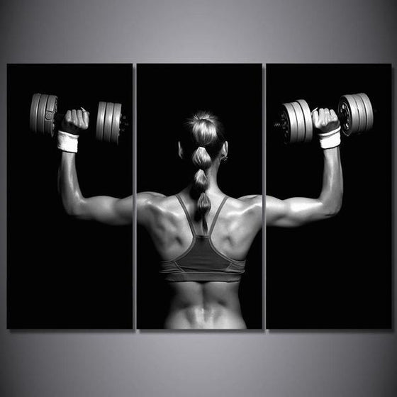 Fitness Sexy Back Canvas Wall Art Ideas