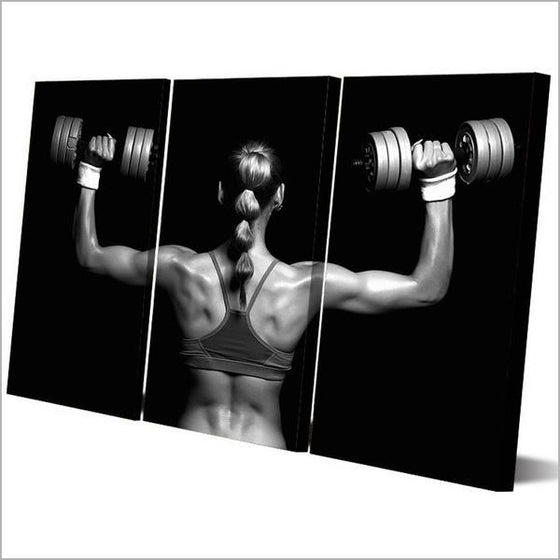 Fitness Sexy Back Canvas Wall Art Prints