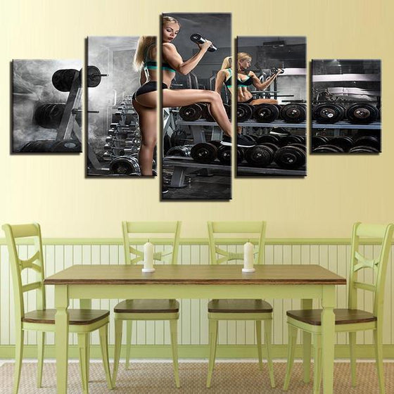 Bodybuilding Chic Canvas Wall Art Dining Room