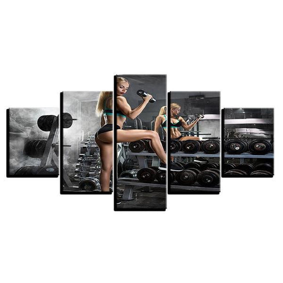 Bodybuilding Chic Canvas Wall Art Prints