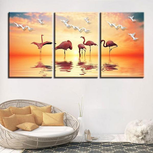 Flock of Birds Canvas Wall Art | Buy Printed Flying Three Little ...