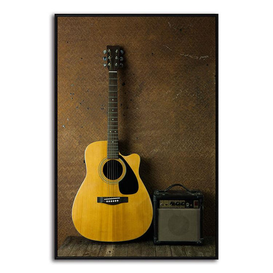 Acoustic Guitar Canvas Wall Art