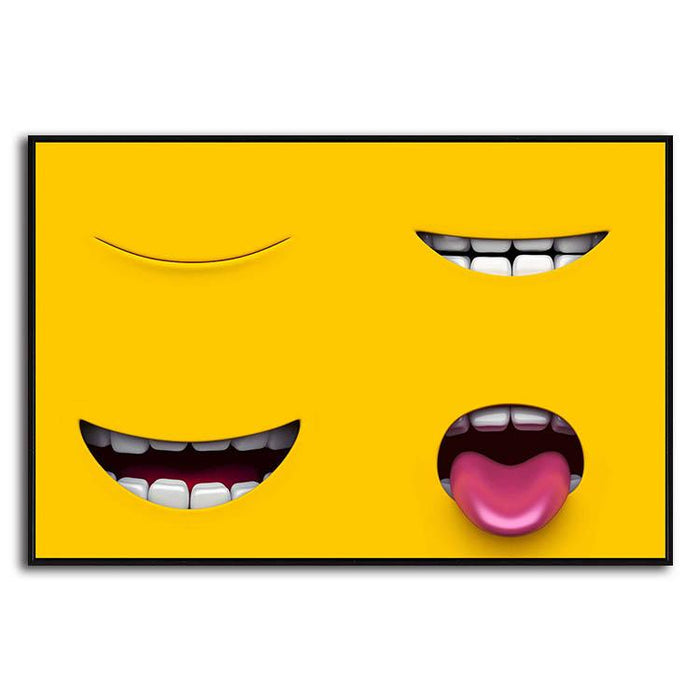Adorable Yellow Characters Canvas Art