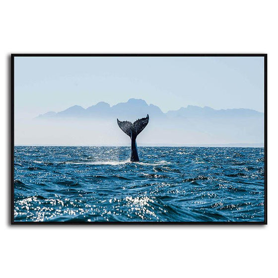 Ocean & Whale's Tail 1 Panel Canvas Art