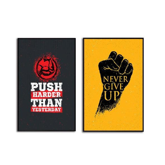 Motivational Quotes 2 Panels Canvas Art