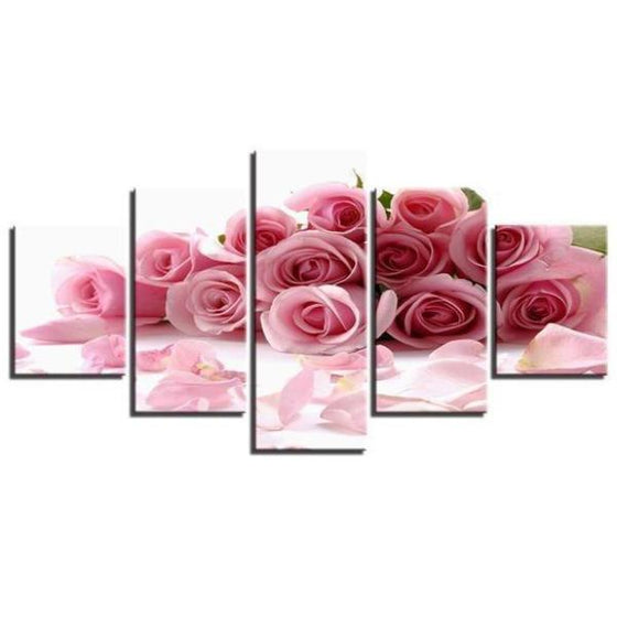 Bouquet Of Pink Roses Canvas Wall Art Decor