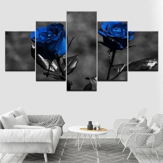 Flowers In Vase Metal Wall Art Canvases
