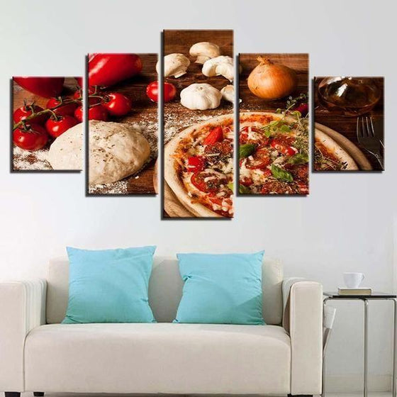 Freshly Baked Pizza Canvas Wall Art Living Room