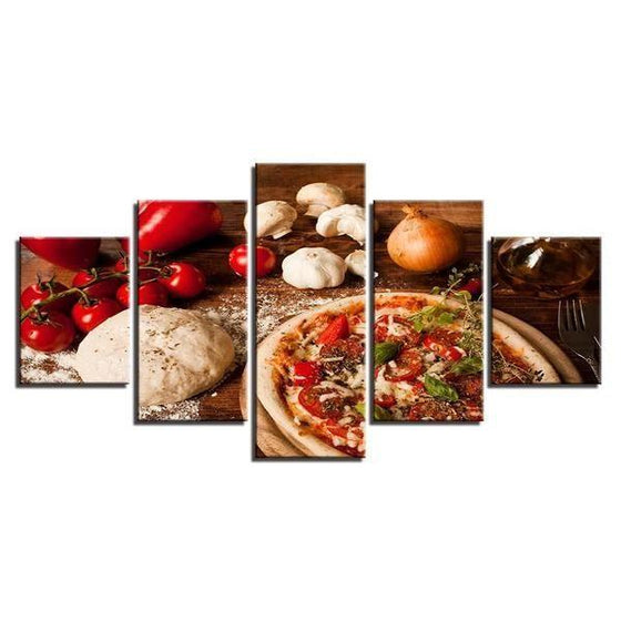 Freshly Baked Pizza Canvas Wall Art