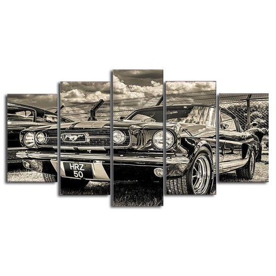 1965 Ford Mustang Canvas Wall Art Decor