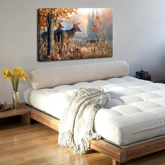 Forest Dears Canvas Wall Art Bedroom