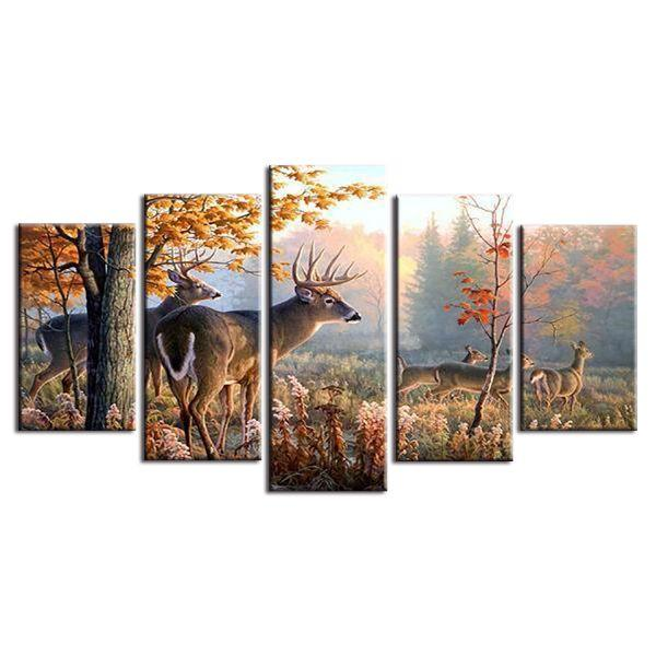 Forest Deer Canvas Wall Art