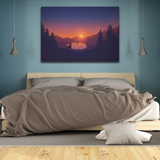 Forest Sunrise Wall Art Bedroom