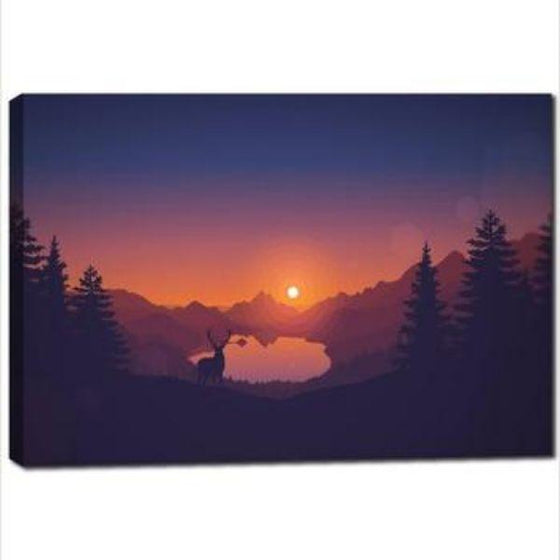 Forest Sunrise Wall Art Canvas