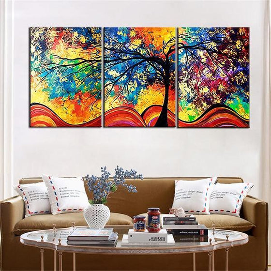 Framed Art Of Trees Living Room