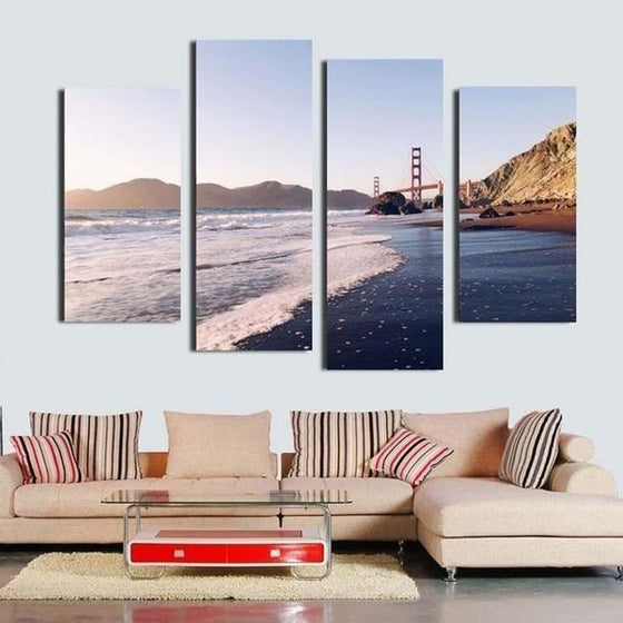 Foamy Beach Waves Canvas Wall Art Decor