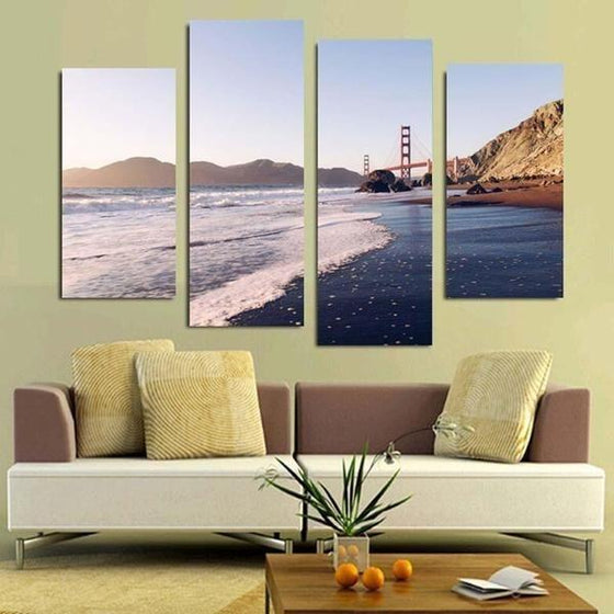 Framed Beach Wall Art Decor