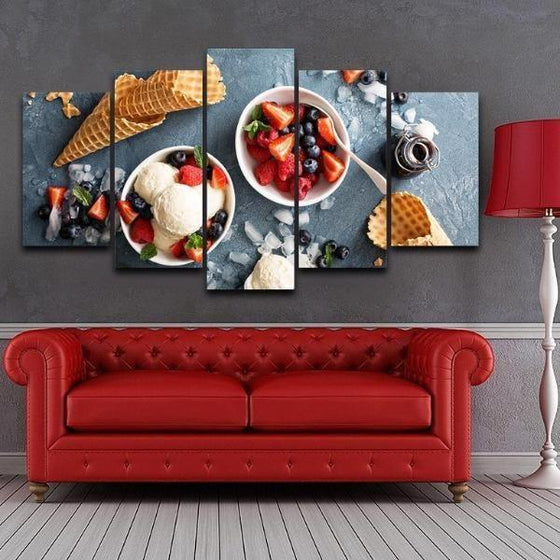 Framed Fruit Wall Art Canvas